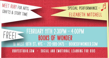 Elizabeth Mitchell performs at Book Of Wonder